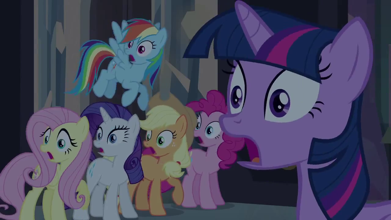 ... and friends shocked EG.png - My Little Pony Friendship is Magic Wiki