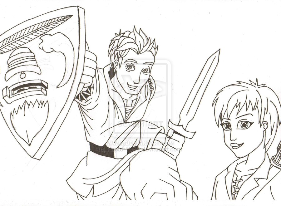 Tom Beast Quest Coloring Page Sketch Coloring Page