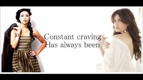 GLEE-Constant craving with lyrics