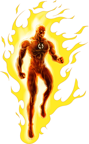 Image Human Torch Classic Ios Png Marvel Avengers