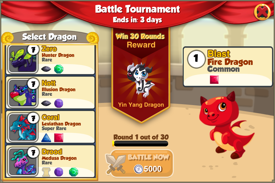 Battle Arena Dragon Story
