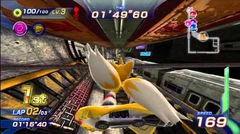 Sonic Free Riders Metropolis Speedway (Standard Free Race) 1080 HD