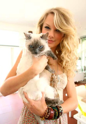 Photo of Taylor Swift & her Cat Meredith
