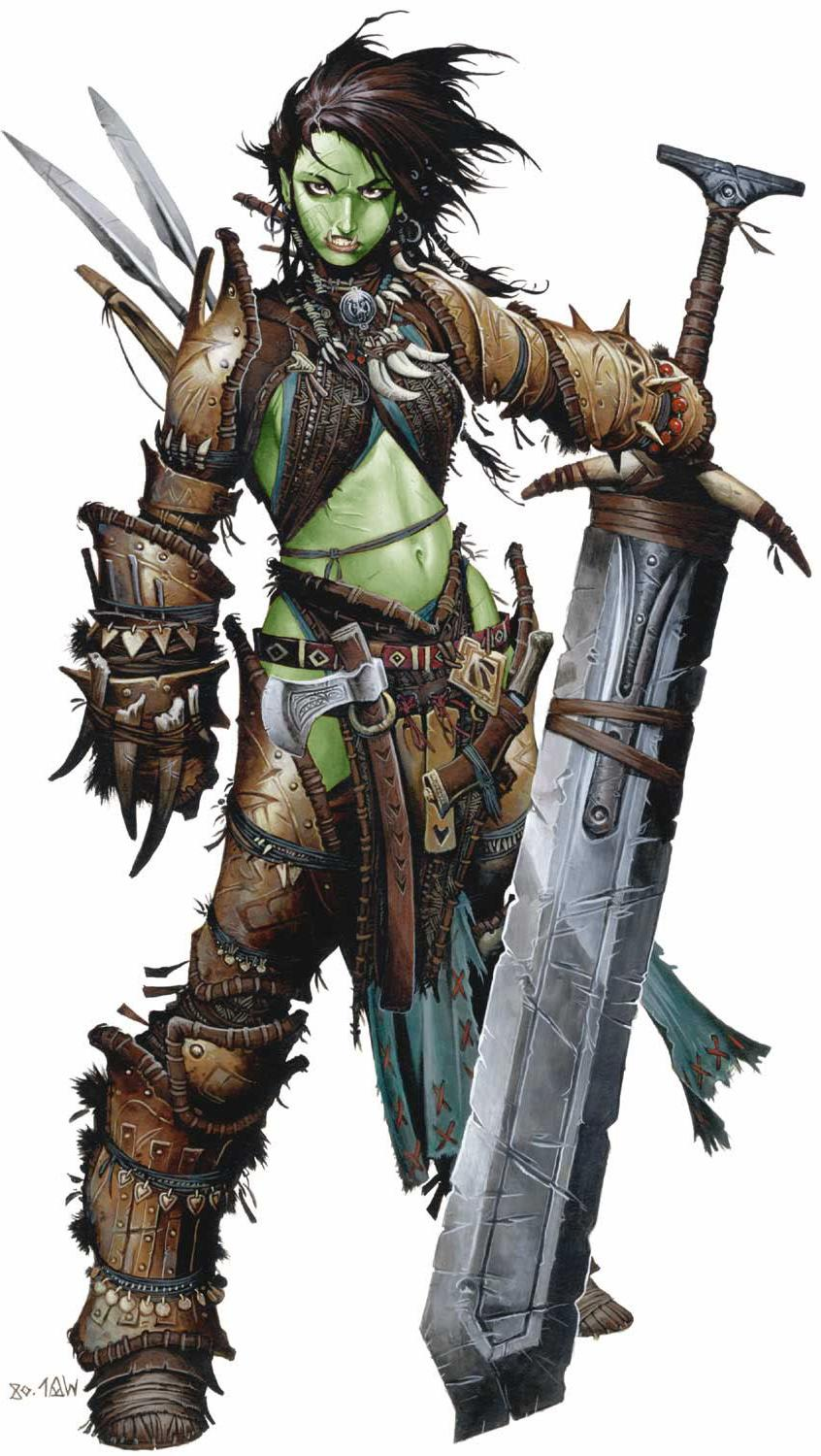 Large half orc hentay chick