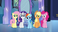 Rainbow Dash questioning Princess Celestia EG