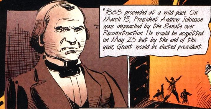 a report on the impeachment of andrew johnson On this date, the house committee on the judiciary, by a vote of 5 to 4, refused to send articles of impeachment against president andrew johnson to the full house radical republicans in the 40th congress (1867–1869) were pitted in a power struggle with president johnson over the shape of reconstruction policy in the south.