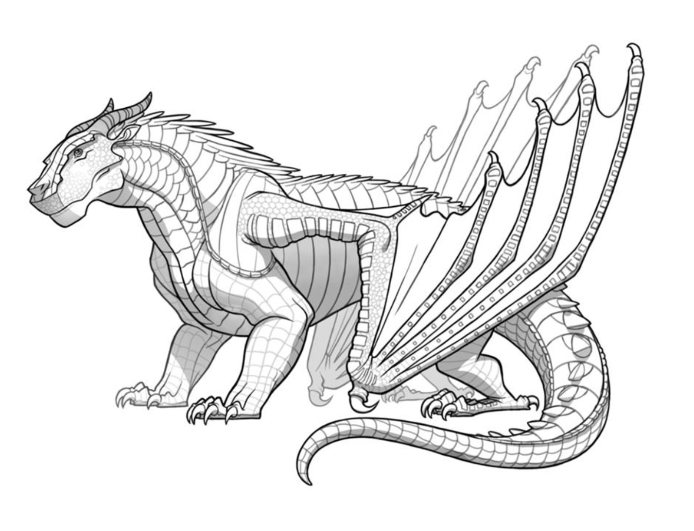 Wings Of Fire Seawing Coloring Pages Coloring Pages