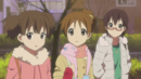 Jun, Ui and Nodoka in front of the Live House.png