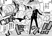 Sanji and Franky Protecting Children