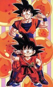 Goku da grande e piccolo