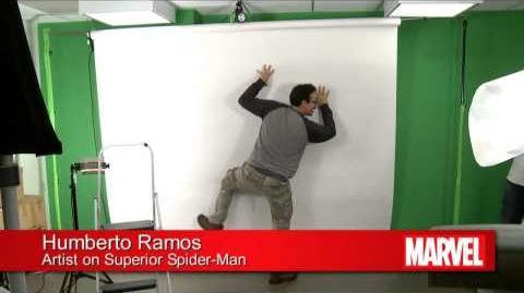 Superior Spider-Man 14 Humberto Ramos Spidey Poses - Marvel AR