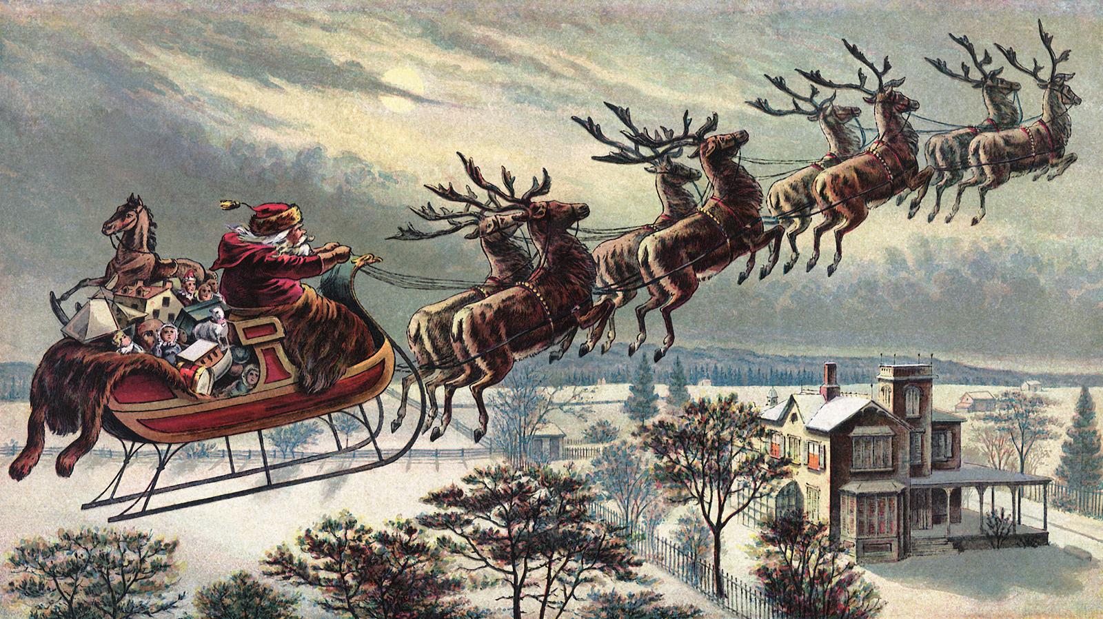 Santas Reindeer Names Santa claus' reindeer