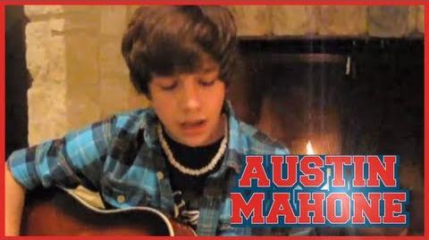 """""""Baby"""" Justin Bieber cover - 14 year old Austin Mahone with lyrics"""