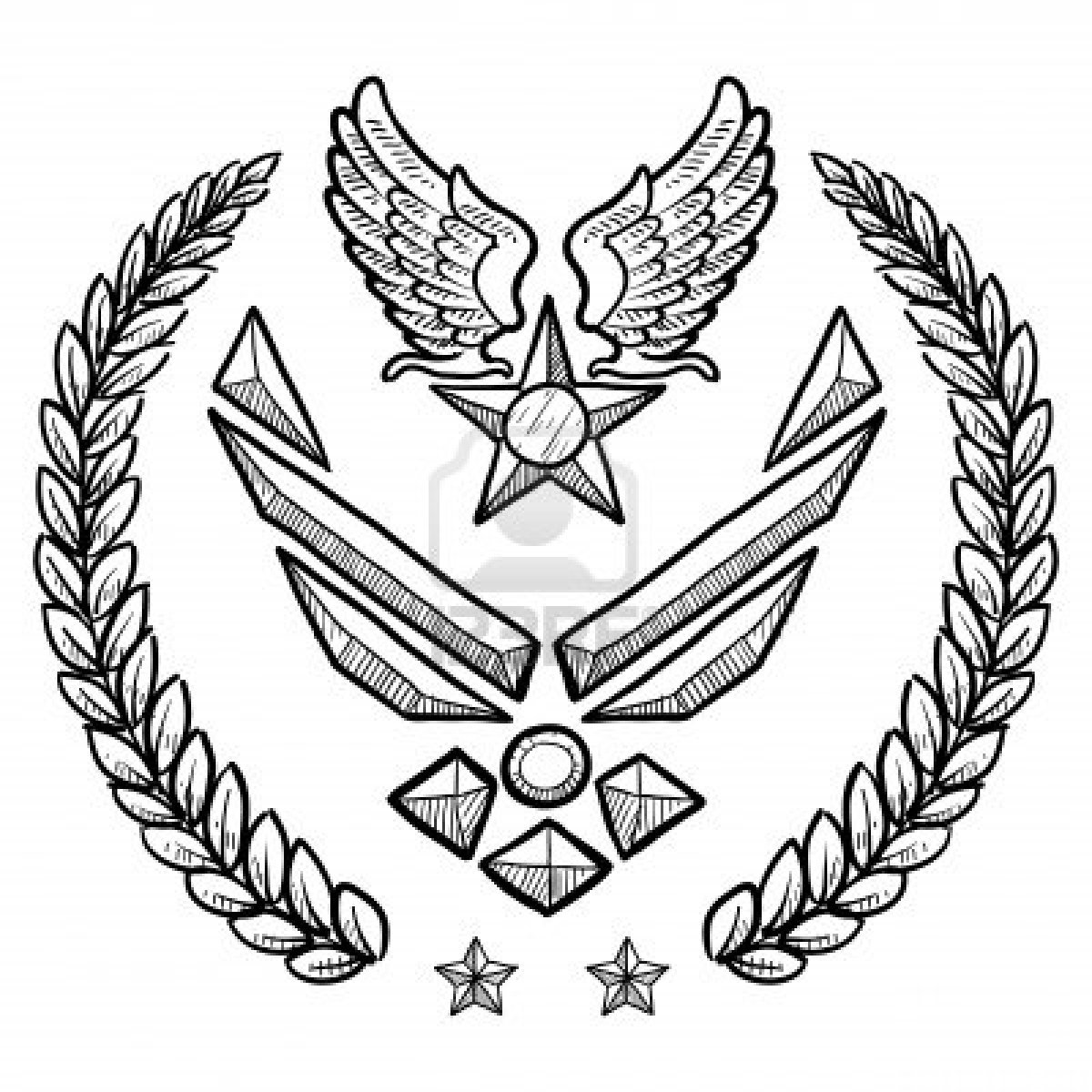 air force insignia coloring pages - photo#4