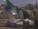 Gamera - 5 - vs Guiron - 19 - Guiron Murders Space Gyaos In Cold Blood.png