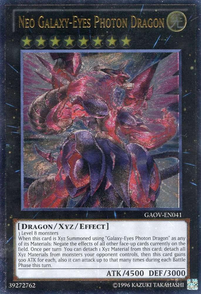 Name Neo Galaxy Eyes Photon Dragon Attribute Light Rank 8 Type Dragon ...