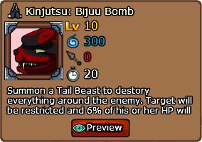 Kinjutsu Bijuu Bomb Ninja Saga Wiki Missions Strategies Battles Attacks Attributes And