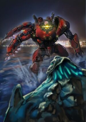 pacific rim crimson typhoon art  Crimson Typhoon es un Jaeger...