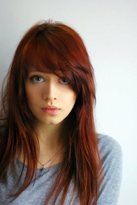 Images Green Image Auburn-hair-girl-green