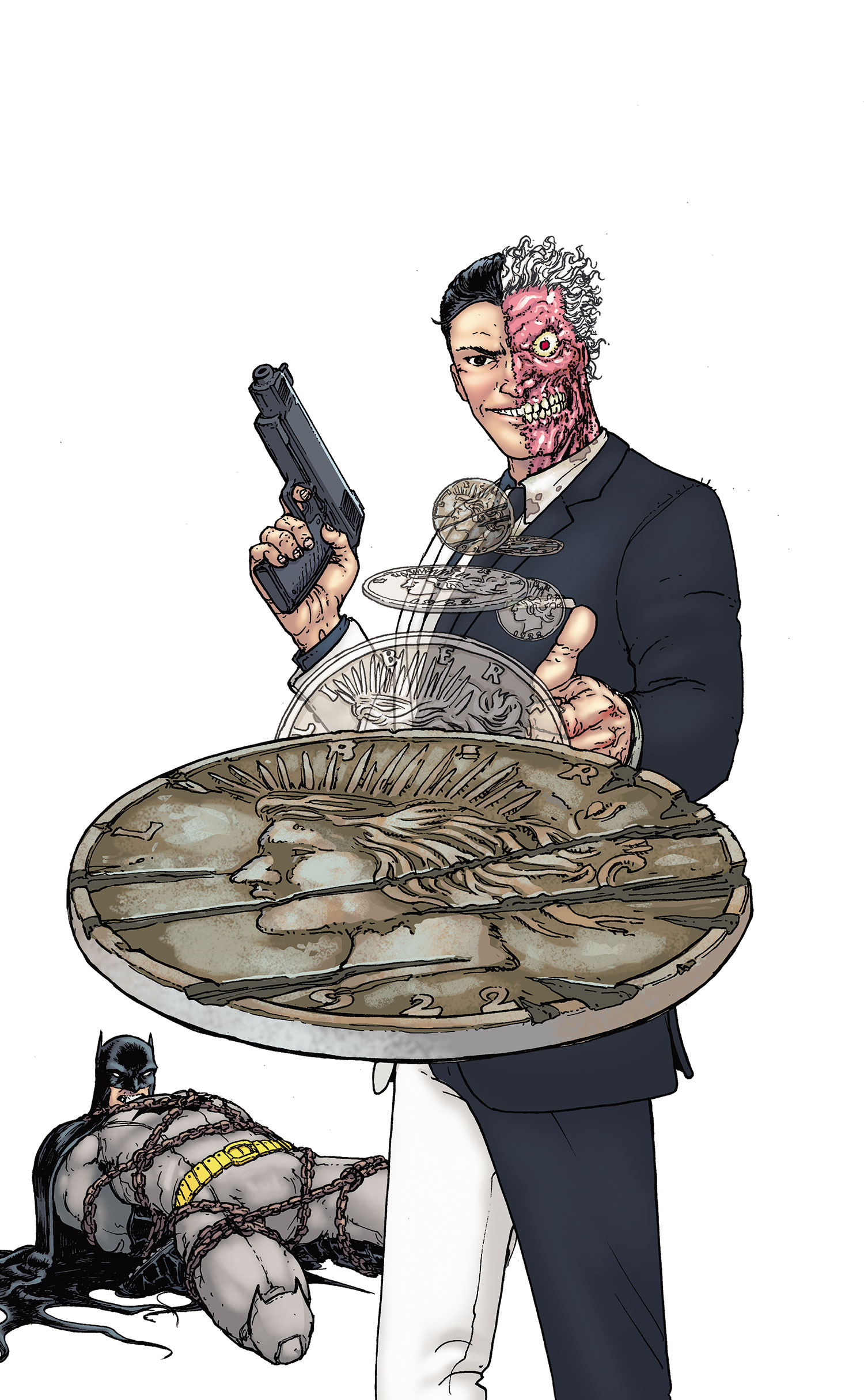 Two Face Feels Lucky In New Batman Arkham City Image: Batman And Robin Vol 2 23.1: Two-Face