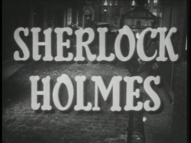 Sherlock Holmes tv Series 1954 Sherlock Holmes 1954