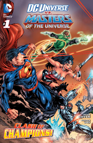 Cover for DC Universe vs. The Masters of the Universe #1 (2013)