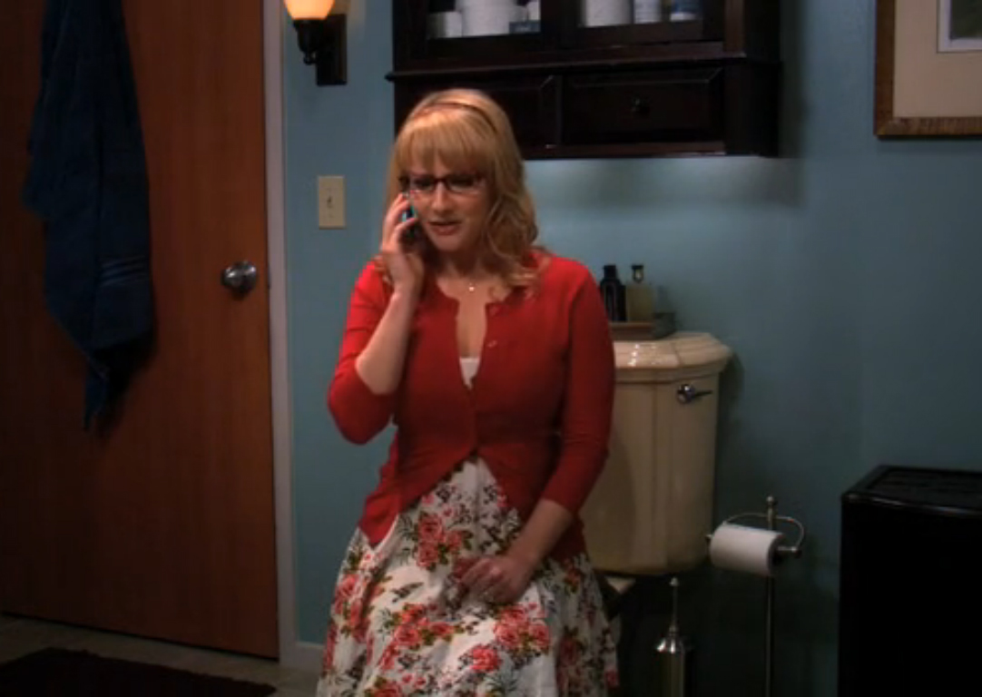 Priya Big Bang Theory Aarti Mann Bernadette talks at the phone