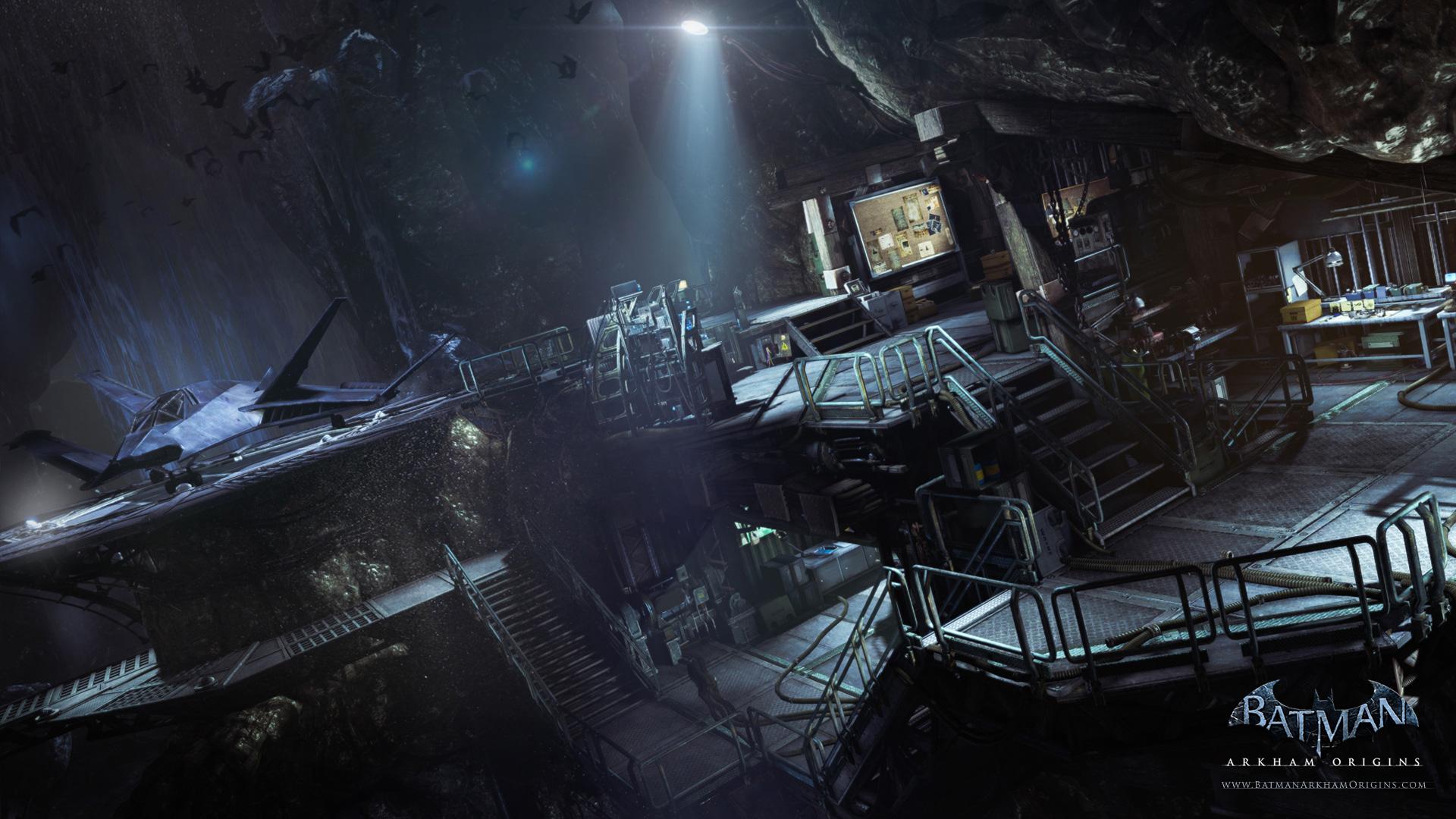 The Batcave as it appe...