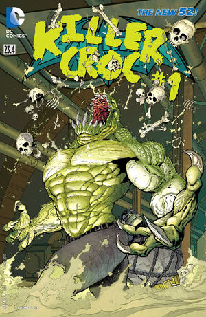 Cover for Batman and Robin #23.4: Killer Croc (2013)