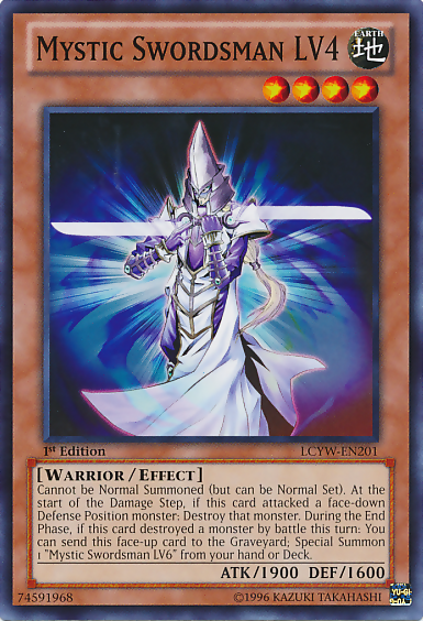 Yugioh Wall Of Revealing Light Ruling : Mystic Swordsman LV4 - Yu-Gi-Oh!