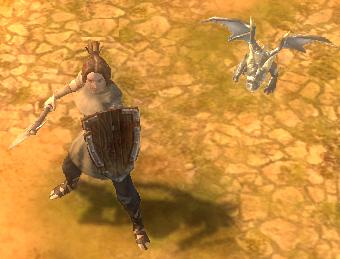Дракенсанг Онлайн - Сереброчешуйчатый драконенок