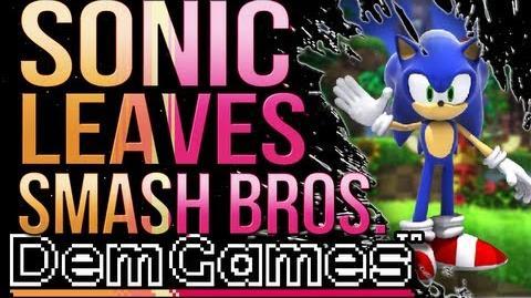 Sonic Leaves Smash Bros. - Game Newz
