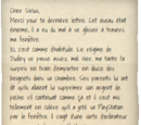 Lettre de Harry Potter à Sirius Black (1994)
