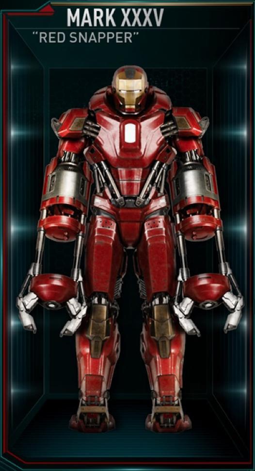 Mark Vii Iron Man Wiki Iron Man Armor Mark Xxxv