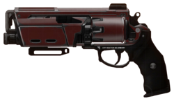 Special weapon his special weapon is the duke mk 44 it is a slow
