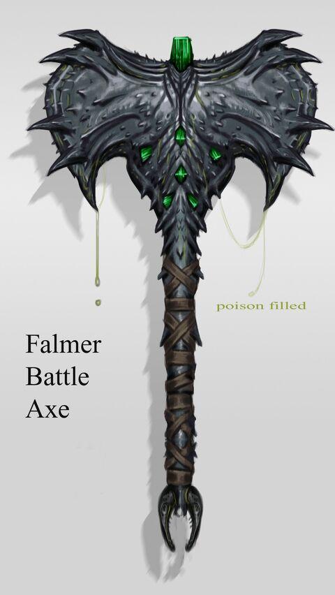 Skyrim Dragonbone War Axe