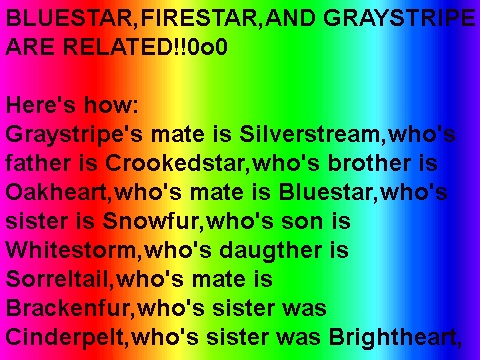 Image bluestar firestar and graystripe are related d warriors novel