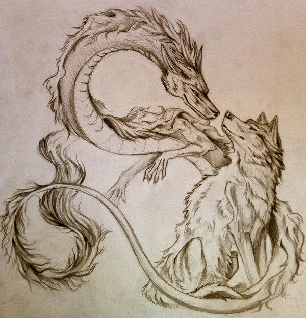 Melhor ship do fórum  Dragon_and_wolf_by_lucky978-d39mmx2