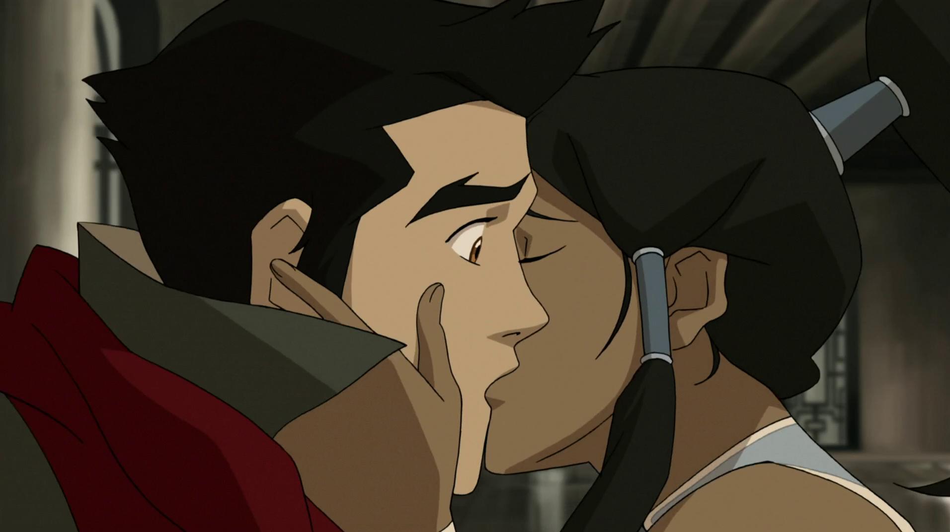 Image korra kisses mako png avatar wiki the avatar the last