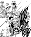 Gowther piercing the beast with his power.png