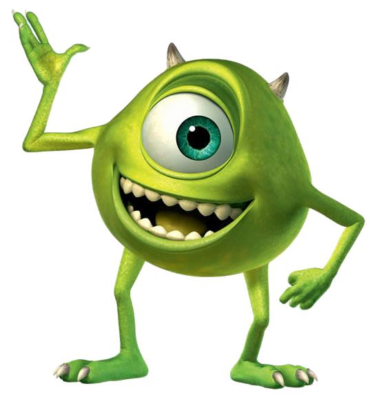 Green Disney Characters Mike Wazowski -...