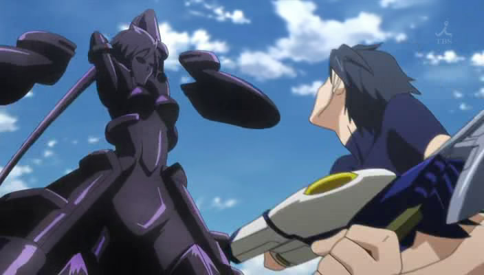 Ichika against Laura s Schwarzer Regen in VT System activated Infinite Stratos Silver Gospel