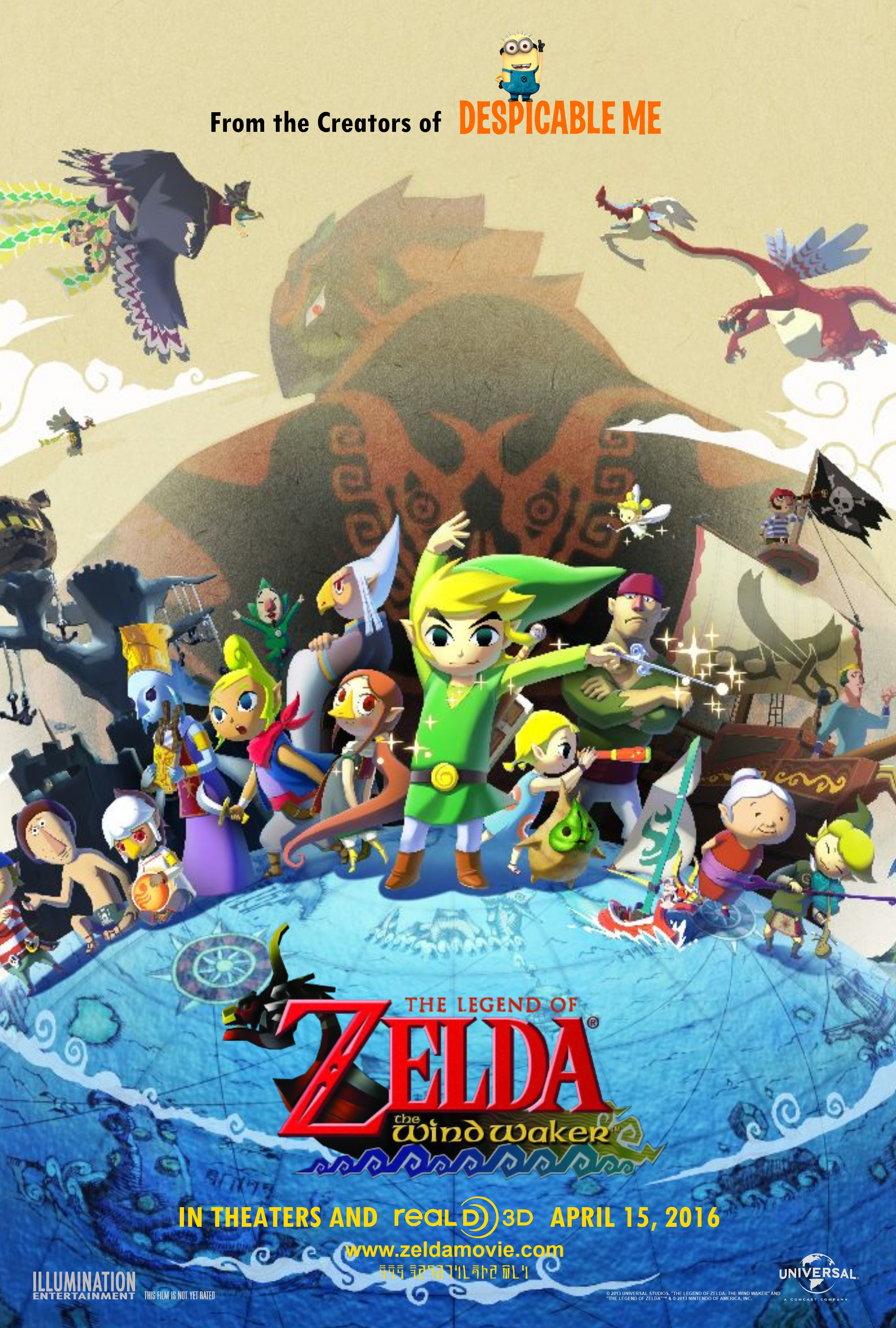 Legend Of Zelda Wind Waker Poster The Legend of Zelda: T...
