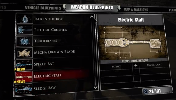 Laser sword blueprint dead rising 4 dead rising 3 laser sword electric staff dead rising wiki malvernweather Images