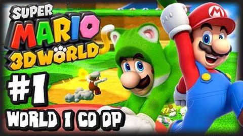 Super Mario 3D World Wii U - (1080p) Co-Op Part 1 - World 1 & Giveaway