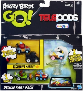 the telepod isn t Red it s Terence also it was found Bomb s Big Bang    Angry Birds Go Terence
