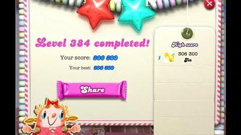 Candy Crush Saga Level 384 ★★-0