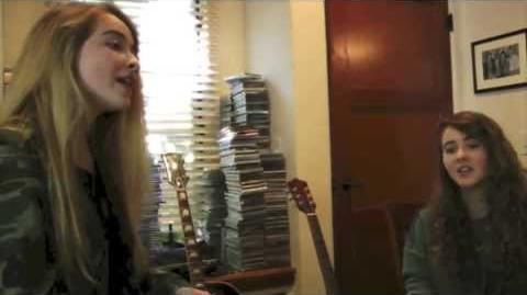 """""""Bravado"""" by Lorde (Official music video cover by Sabrina & Sarah Carpenter)"""