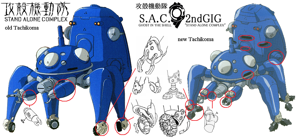Difference Between Concept Art And Character Design : Tachikoma ghost in the shell wiki
