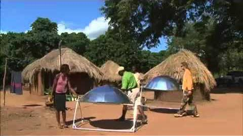 Solar Cooking in Zambia Sep 08 - featured on BBC and Aljazeera